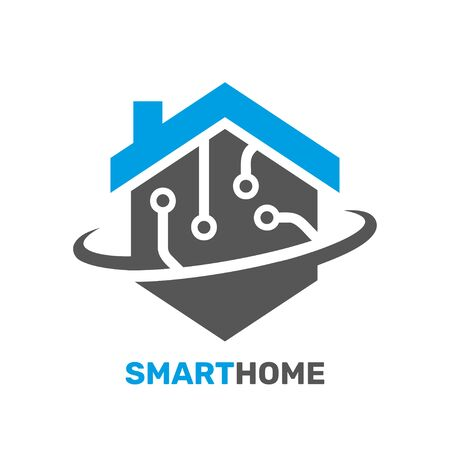 Smart house logo. Digital technology in our life. Concept digital smart house. EPS 10