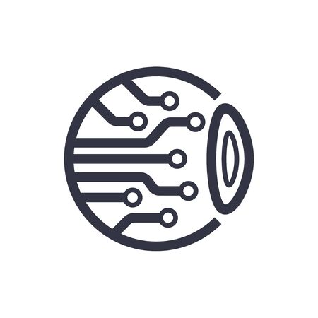 Cyber eye symbol icon. vector illustration. template design. 스톡 콘텐츠 - 145260488