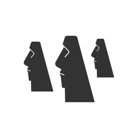 A statue of Easter Island. Vector illustration in flat style.