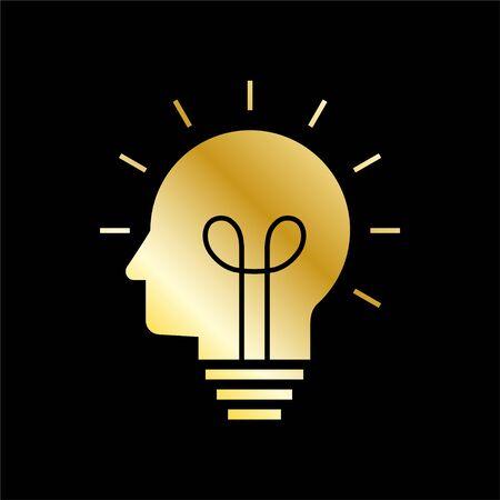 Human head creating a new idea. Creative Idea. vector. 스톡 콘텐츠 - 145260495