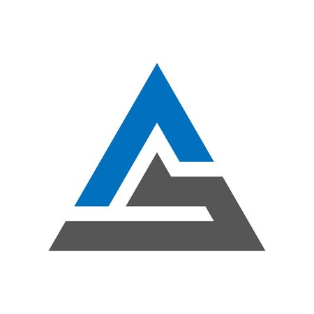 Triangle tech simple business icon  . EPS 10.
