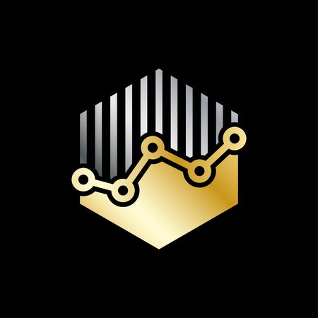 Invest vector  template concept. Economic finance investment sign. Business symbol. Infographic bar. Design element. EPS 10. Foto de archivo - 145850091
