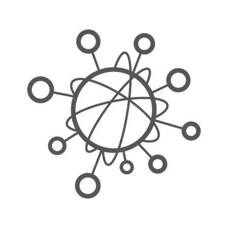 Simple line icon to represent the Internet of Things IoT concept. A network of objecs such as devices connected to each other on the internet. Editable Stroke. EPS 10.
