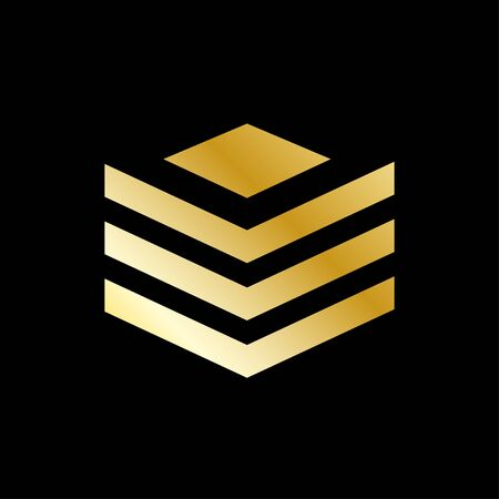 Business logo template, building, property development, and construction logo vector design with gold color. EPS 10