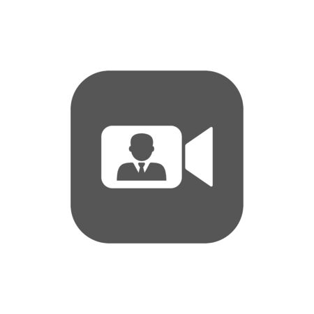 Online Meetings, Work from Home Teleconference Video Conference or Remote Working, Planning or Preventive Discussion Concept Vector. Foto de archivo - 147130353
