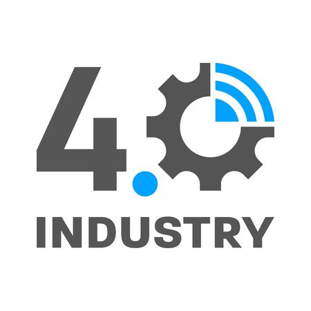 Industry 4.0, IoT, Smart Factory concept logo. Vector Illustration