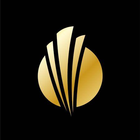 Vector business logo concept illustration. Positive geometric sign in optimism style. Design element. Foto de archivo - 147464595