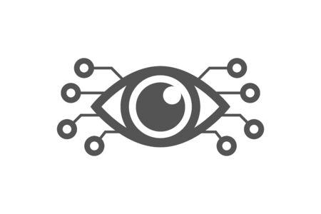 Cyber eye symbol vector icon, cyber logo concept. Modern media icon. Vision Logotype concept. EPS 10 스톡 콘텐츠 - 149384245