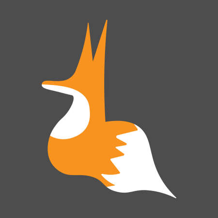 Logo of red fox in graffiti style
