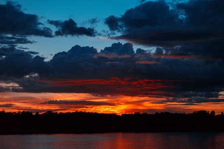 Sunset on the River Reklamní fotografie