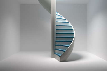 Spiral staircase 3d render