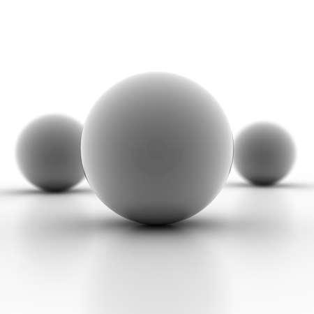 ease: Blank gray metallic spheres 3d render