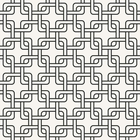 seamless tile: Modern stylish outlined geometric background with structure of repeating squares - vector seamless pattern