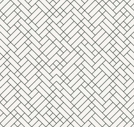 tiles floor: Modern outlined irregular geometric texture, stylish decorative design - vector seamless pattern