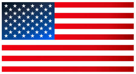 indivisible: Clean modern flag of the United States of America. Vector icon. Illustration