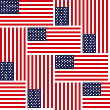 dignity: Flag of the United States of America, colorfull seamless repeating vector background pattern