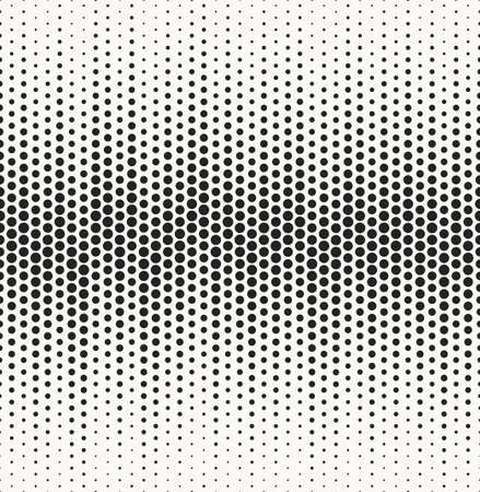 duotone: Modern grungy typographical texture with circles structure - vector seamless pattern
