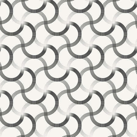 strokes: Abstract artistic ornamental brush strokes background - monochrome vector seamless pattern