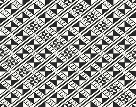 african fabric: Traditional ancient African fabric textile design, structure of repeating rhombuses - vector seamless pattern Illustration