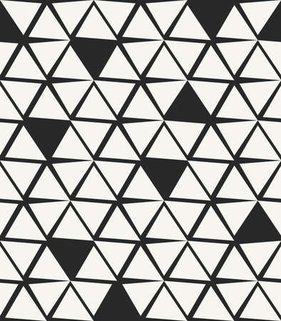 uneven: Modern stylish hand drawn background with structure of uneven triangles and missing pieces - vector seamless pattern