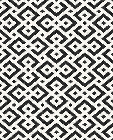 Traditional African textile design, structure of repeating geometrical elements - vector seamless pattern