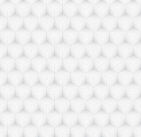 volumetric: Repeating volumetric gray cubes mosaic, seamless abstract vector pattern Illustration