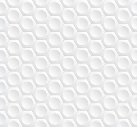 volumetric: Modern stylish geometric background with volumetric structure of repeating hexagons and circles - vector seamless background