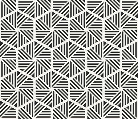 Modern stylish monochrome hexagonal texture with geometric structure - vector seamless pattern 向量圖像