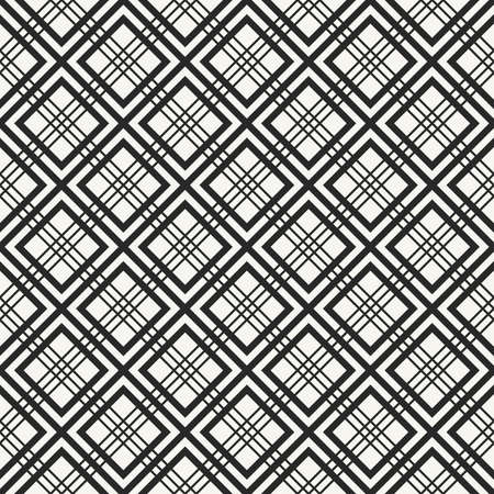 Traditional Japanese Hishi fabric texture with structure of repeating geometric shapes and lines - vector seamless pattern.