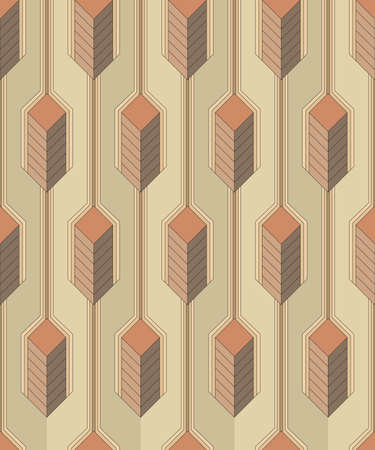 primitives: Vector seamless pattern - Modern stylish colorful decorative fabric texture with structure of vertical lines and geometric primitives