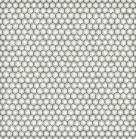 Abstract vector seamless pattern with irregular structure of repeating gray circles with volume effect. Ilustração