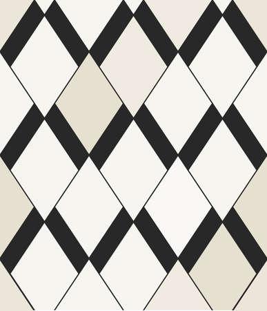 ベクターのシームレスなパターン。モダンな抽象幾何学的パターンひし形であります。包装紙や壁紙、ファブリックのための完璧なテクスチャです