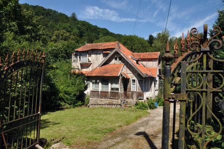 Grunge wooden House in Spa, Belgium