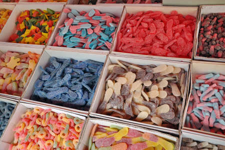 Candy sweets jelly in colorful display on a market Stock Photo - 14827160