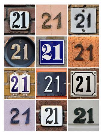 Collage van Huisnummers Eenentwintig