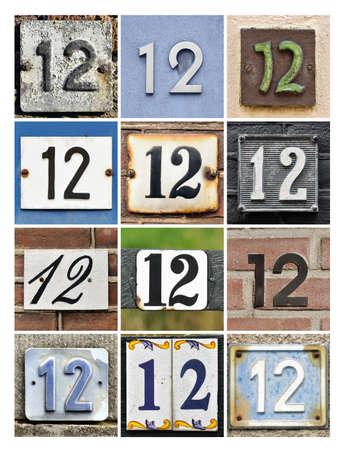twelve: Collage of House Numbers Twelve