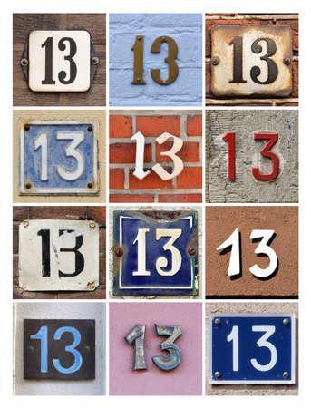 Collage van Huisnummers Dertien