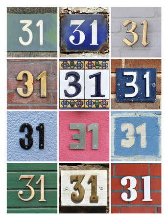 30: Collage of House Numbers Thirty-one