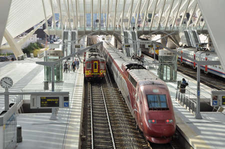 Liege-Guillemins train station is the main station of the city of Li?, Belgium.