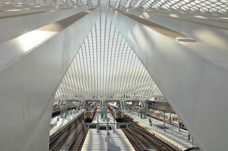 Liege-Guillemins train station is the main station of the city of Li?, Belgium. Station by the architect Santiago Calatrava