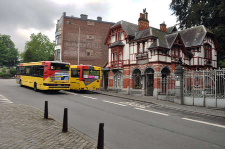 Buses lane in the Belgian city Verviers