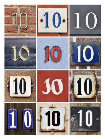 number 10: Collage of house Numbers Ten