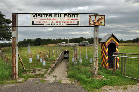 guard rail: Pepinster, Belgium - August 2010 : Fort de Tancr�mont is a Belgian fortification located to the south of Pepinster Editorial