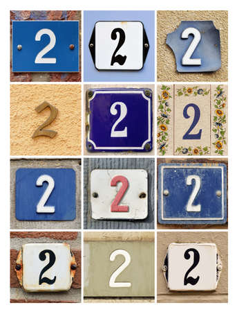 factorial: Collage of House Numbers Two