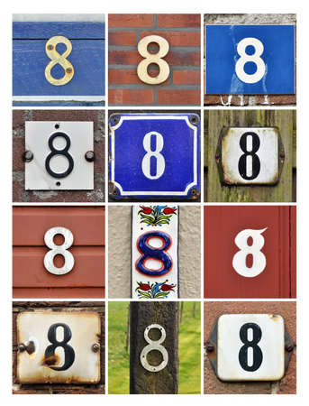 Collage of House Numbers Eight