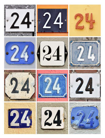 factorial: Collage of House Numbers Twenty-four