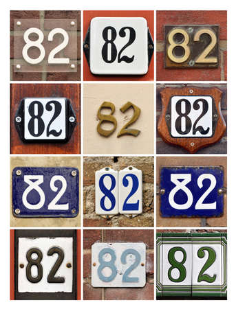 factorial: Collage of House Numbers Eighty-two