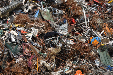 Scrap heap - Scrap Metal ready for recycling photo