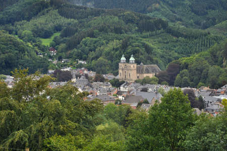 liege: View at Malmedy, Belgium  In the Walloon Region, Province of Liege  It belongs to the French Community of Belgium Stock Photo