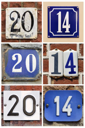 Twenty fourteen - A collage of number 2014 photo